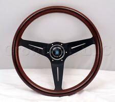 Nardi Steering Wheel Deep Dish Corn 350 mm Mahogany Wood Black Classic Horn