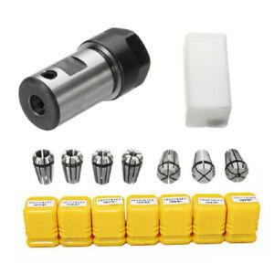7pcs Set New ER11 1-7mm Collet + ER11A 5mm Motor Shaft Bracket Extension Rod Kit