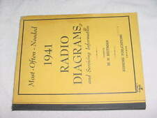 1941 Radio Diagrams and service information book 192 pages