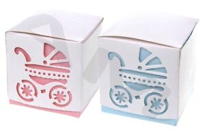 Boys & Girls Baby Child Christening Favour Boxes, Naming Sweets Blue Pink FB011