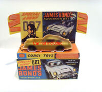CORGI No.261. JAMES BOND - ASTON MARTIN. DB5. Superb repro display box and tray.