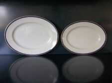 (2) ROSENTHAL CONTINENTAL GALA BLUE CLASSIC ROSE COLLECTION SERVING PLATTER LOT