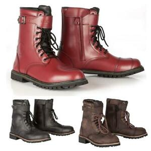 Spada Pilgrim Grande CE Leather Waterproof Motorcycle Boots Motorbike Shoes