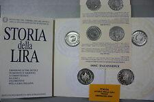 ITALIA STORIA DELLA LIRA ITALIANA FS 2000 folder 2 monete argento PROOF - BE  PP