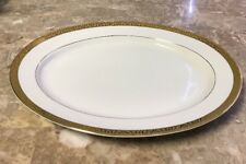 ROYAL GALLERY/MACY'S china GOLD BUFFET pattern Oval Serving Platter 13-3/4""