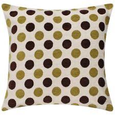 Funda de cojín Color principal Amarillo de poliéster para el hogar
