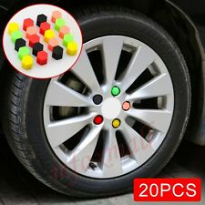 20X 19mm Car Wheels Screw Lug Bolt Nut Tire Valve Cap Cover Protect Parts Trim