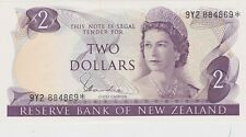 More details for p164d new zealand two dollars banknote mint condition issued between 1977 - 1981