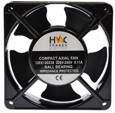 Quality Compact Axial Fan 230v 120 x 120 x 38 mm Reversible 3wire 112CFM IP68