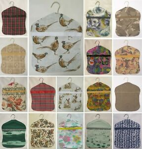PEG BAG WITH HANGER - Hand Made UK - CHOOSE FROM LARGE SELECTION