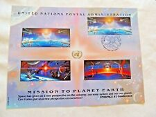 "September 4th, 1992 ""Mission To Planet Earth"" U.N. Stamp Sheet"