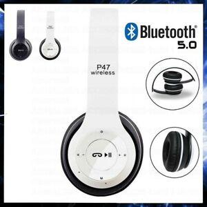 CUFFIE BLUETOOTH WIRELESS SENZA FILI OVER EAR SPORT GAMING PS4 XBOX PC TV BIANCO