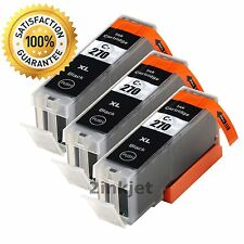 3 Black Ink Cartridges for Canon PGI-270XL PIXMA Printer MG5720 MG6821 MG6822