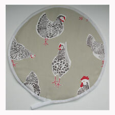 Aga Range Hob Hat Lid Mat Cover with Loop Cook Chickens Chef Pad Hen Rooster NEW