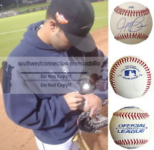 Jaff Decker Athletics Signed Autograph Baseball S.D. Padres Pirates Rays Proof