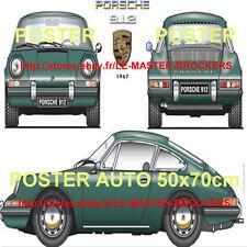 PORSCHE 912  1967 Affiche fiche Poster voiture collection Allemande