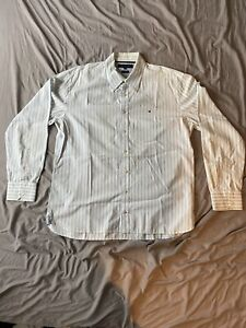 Tommy Hilfiger Shirt (white with blue stripes) Extra Large