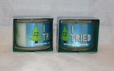 Bath & Body Works Twisted Peppermint Mini Single Wick Scented Candle X 2