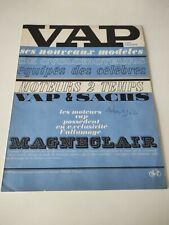 Prospectus Catalogue Brochure Cyclomoteurs Vap Gamme 1962
