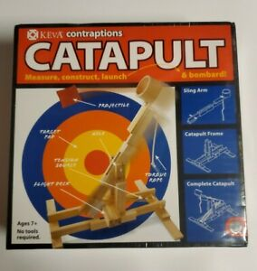 CATAPULT Measure Construct Launch Bombard KEVA Mindware build toy table top wood
