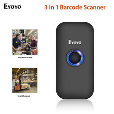 Eyoyo 3 in 1 Bluetooth Barcode Scanner 1D Screen Scanning for Phone PC iPhone