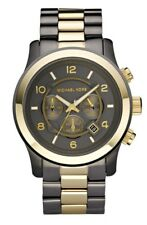 NEW MICHAEL KORS GREY DIAL GUNMETAL TONE LATEST MEN'S WATCH MK8160