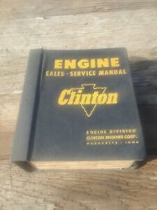 VINTAGE CLINTON ENGINE SALES, SERVICE MANUAL,  ORIGINAL, RARE!