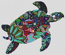 "Turtle Counted Cross Stitch Kit 13"" x 11""14ct Animals/Insects Designs In Thread"