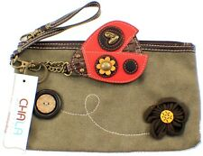 Chala Ladybug Lady Bug Olive Clutch Wristlet Purse
