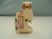 Vintage music city USA souvenir owl thermometer figurine  made in Japan
