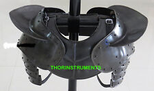ARMOR GOTHIC STEEL GORGET NECK ARMOR AND PAULDRON