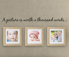 Wall Sticker Decal Quote Vinyl Art A Picture's Worth a Thousand Words Family H14