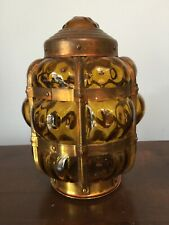 "GOLD GLASS AND BRASS BULLET SHAPE LIGHT SHADE APPROX 9"" TALL X 5"" WIDE"