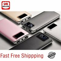 20000mAh UltraThin Dual USB Portable Power Bank External Battery Backup Charger