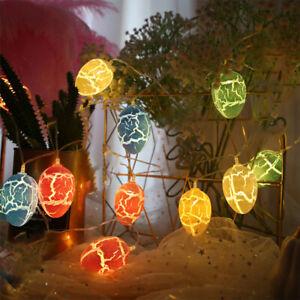 Easter Cracked Egg LED Lights String Fairy Lights Birthday Party Decor Battery