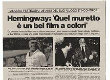 GA33 Clipping-Ritaglio 1973 Alassio Miss Muretto- M. Berrino Caffè Roma