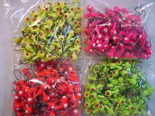 50 NEW 1/8 OZ. LEAD HEAD JIG HEADS CRAPPIE WALLEYE ASSORTED COLORS SET #3