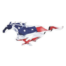 "Ford Mustang Pony USA Flag 12"" 3M Perforated Unobstructed View Graphic Decal"