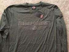 Harley Davidson Bar And Shield Long Sleeve Heather Gray Shirt Nwt Men's Large