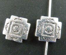 25Pcs Tibetan Silver Nice Square Spacer Beads 10x10mm 10596