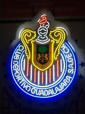 Huge Futbol Club Deportivo Guadalajara Neon Light! Chivas Lafc Galaxy Cd Mexico