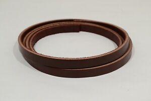 """Leather Strip - Burgundy Latigo - 1/2"""" - 10-11 oz - 1 Piece (E421)"""