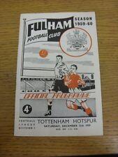 12/12/1959 Fulham Tottenham Hotspur v (punteggio osservato all'interno). grazie per la visualizzazione