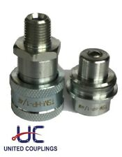 14 High Pressure Hydraulic Quick Disconnect Set Npt 10000 Psi