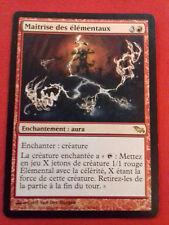 MASTERY OF ELEMENTALS ENCHANTMENT CARD MAGIC MTG RARE FRENCH VERSION