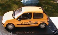 RENAULT CLIO 2 II 2002 MUSEE DE LA POSTE UNIVERSAL HOBBIES 1/43 JAUNE PTT POSTES