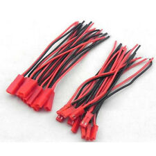 10pair Black+Red Connector Plug Cable Line Male+Female for RC BEC Lipo Battery