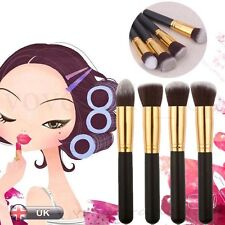 New 4PCS Pro Face Makeup Contour Foundation Kabuki Cosmetic Blush Brushes Black