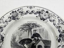 SUPERBE ASSIETTE CREIL - EXPOSITION UNIVERSELLE 1867 : NUMERO 11 : NICHE A LOUER
