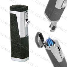 Vector KGM Urbano 3x Jet Torch Flame Butane Gas Lighter - Black Crackle Matte